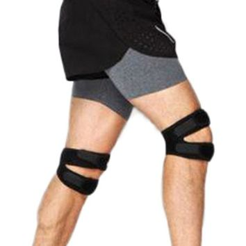 Mens Adjustable Elastic Knee Support Brace Kneepad Patella Safety Guard Strap For Sport Fitness Run