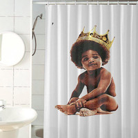 Big notorious big biggie smalls custom shower curtain by jedingwatukali