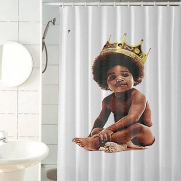 Big Notorious Biggie Smalls Custom Shower Curtain By Jedingwatukali