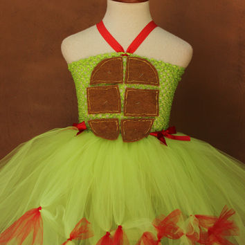 Teenage Mutant Ninja Turtle - Halloween Costume - Ninja Turtle Dress - TMNT Halloween Costume - Ninja Turtle Birthday - Ninja turtle party