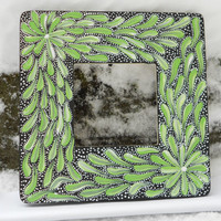 Painted Frame Black and Green by Acires on Etsy