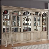 Allure Library 5 Piece Library Inset Wall Champagne