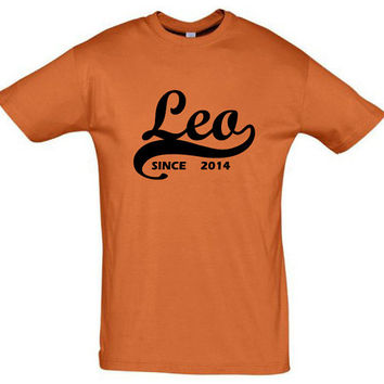 Leo since 2014 (Any Year),gift ideas,humor shirts,humor tees,birthday gift,horoscope shirt,leo shirt,gift for husband,cotton shirt,mom shirt