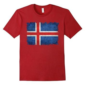 Vintage Flag Of Iceland T-Shirt