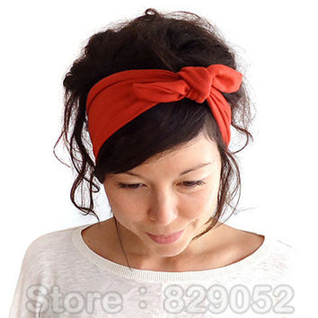 Ear Elastic Headband for Woman Girl Knot Bandage Hairband Turban Headbands Headwrap Bandana Headwear Hair Accessories Outdoor