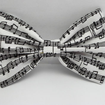Hair Bow Clip - Musical Notes