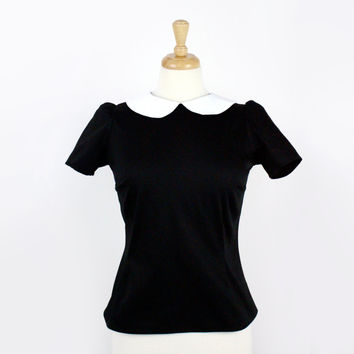 Black and White Vintage Inspired Top