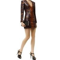 Balmain Sequin Snake Print Dress Multi| Harrods.com