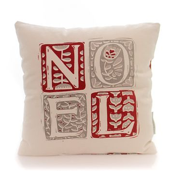 Christmas Noel Pillow Accent Pillow