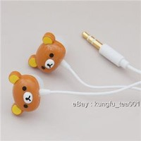 Rilakkuma Relax Bear Headphones EarBud iPhone mp3 NEW - Hong Kong