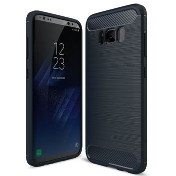 For Samsung Galaxy S8 Cover S8 Plus Mobile Phone Case Ultra thin Carbon Fiber Soft TPU Back Cover Cases for Samsung S8