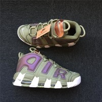 Nike Air More Uptempo Camo Army Green 917597 001 40----47