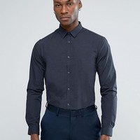 New Look Shirt With Pin Dot Print In Regular Fit at asos.com