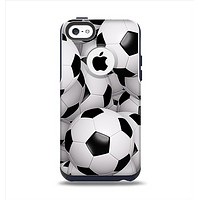 The Soccer Ball Overlay Apple iPhone 5c Otterbox Commuter Case Skin Set