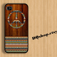 Nice Orange Peace Aztec  -  iPhone 4 Case iPhone 4s Case iPhone 5 Case