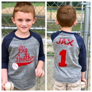 Baseball big brother shirt, big brother shirt, promoted to big brother shirt, baseball shirt, pregnancy announcement shirt, new big brother