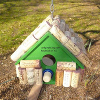 Wine cork bird house, Happy hour for the birds!