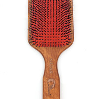 Large Wooden Hair Brush Comb With Natural Wild Boar Bristles And Nylon Pins