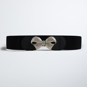 Pave Bow Waist Belt