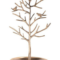 Inviktus Silver Birds Tree Jewelry Stand Display Earring Necklace Holder Organizer Rack Tower (Antique Cyan)