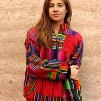 color block SOUTHWEST ikat style BOXY abstract bright patchwork jacket