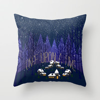 Once Upon a Time In Storybrooke Throw Pillow by Sara Eshak