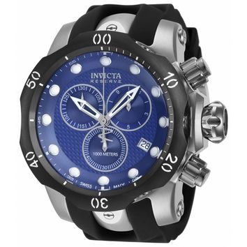 Invicta 16149 Men's Venom Chronograph Blue Dial Black Rubber Strap Dive Watch