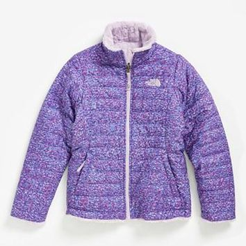 The North Face Infant Girl's 'Mossbud Swirl' Reversible Water Repellent Jacket,