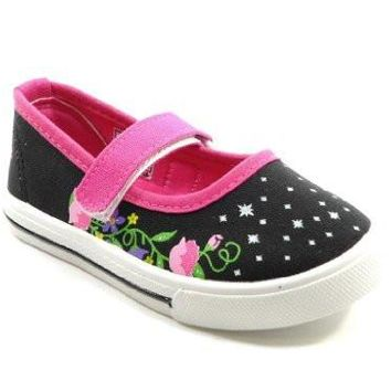 Girls Ositos 413K Floral Mary Jane Flat Shoes