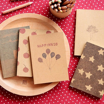 Best Promotion Small Blank Kraft Paper Notebook Notepad Sketchbook Diary Journal Paint Drawing Pattern Randomly Stationery