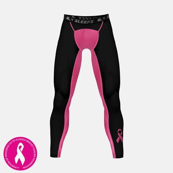 Pink black Ribbon Tights for men