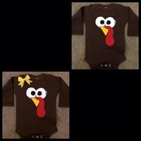 Turkey Onesuit - Toddler Shirt - Thanksgiving Onesuit - Mia Grace Designs - Ruffles with Love - Baby Clothing - RWL
