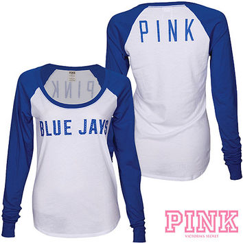 Toronto Blue Jays Victoria's Secret PINK® Drapey Baseball T-Shirt - MLB.com Shop
