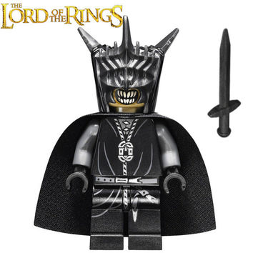 The Lord of the Rings Hobbit Mouth of Sauron Witch-King Mordor ORC Minifigures Assemble DIY Building Blocks Kids Toys Gifts