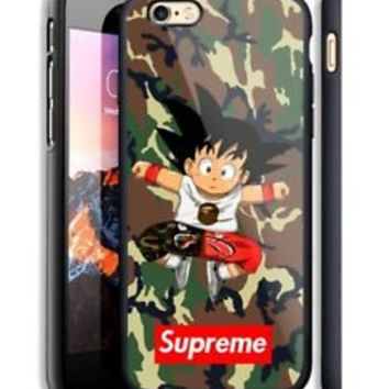 Top Goku Supreme Bape Camo Fit Hard Case For iPhone 6 6s Plus 7 8 Plus X Cover +