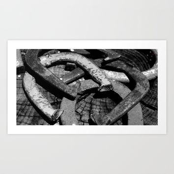 Horseshoes Art Print by Derek Delacroix