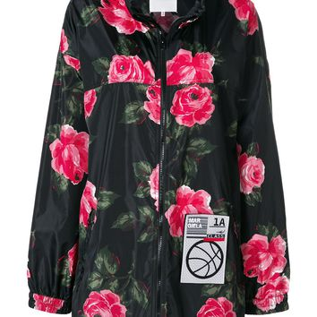 Dark Pink Floral Oversize Windbreaker by Maison Margiela
