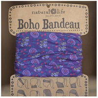 Boho Bandeau by Natural Life in Purple Floral