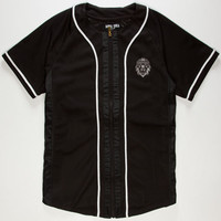 Aura Gold Mens Mesh Baseball Jersey Black  In Sizes