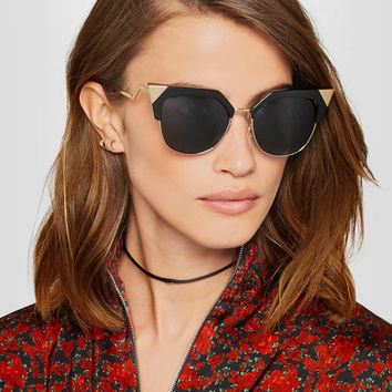 Fendi - Iridia cat-eye gold-tone and acetate sunglasses