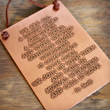 """Dr Seuss - Etched Copper Plaque - 3"""" x 4"""" - Personalize - Anniversary - Wedding - Birthday - Customize - Corporate Gift"""