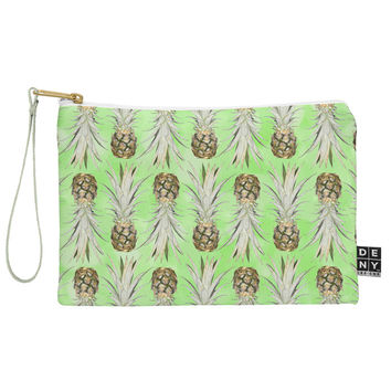 Lisa Argyropoulos Pineapple Jungle Green Pouch