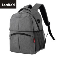 insular Baby Nappy Bags Nylon Baby Diaper Bag Large Capacity Mummy Stroller Pouch Backpack Multi-functional Baby Nursing Bag