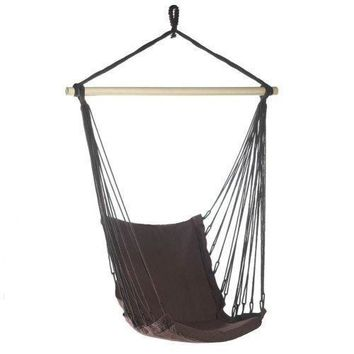 Espresso Cotton Padded Swing Chair (pack of 1 EA)