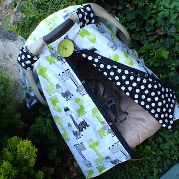 Car Seat Canopy Giraffee