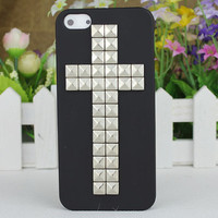 Black Hard Case Cover With Silvery Stud for Apple iPhone5 Case, iPhone 5 Cover,iPhone 5 Case, iPhone 5g
