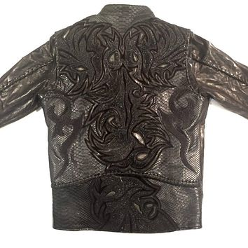 Dark 8 'Dragon' Python & Stingray Jacket