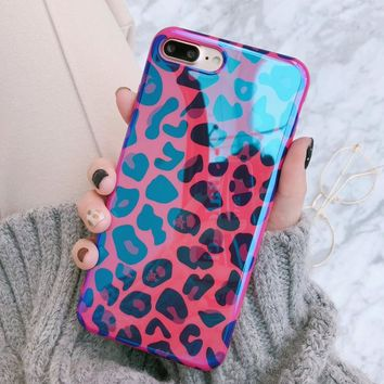 Blu-Ray Sexy Leopard Print Phone Case For iPhone 6 6S 7 8 Plus X