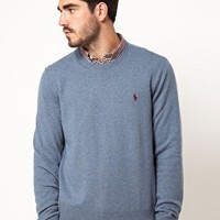 Polo Ralph Lauren Jumper in Wool Crew Neck at asos.com
