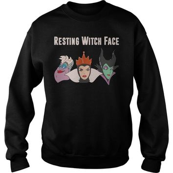 2017 Disney Resting witch face shirt Sweat Shirt